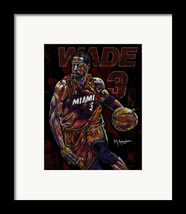 Wade Framed Print By Maria Arango