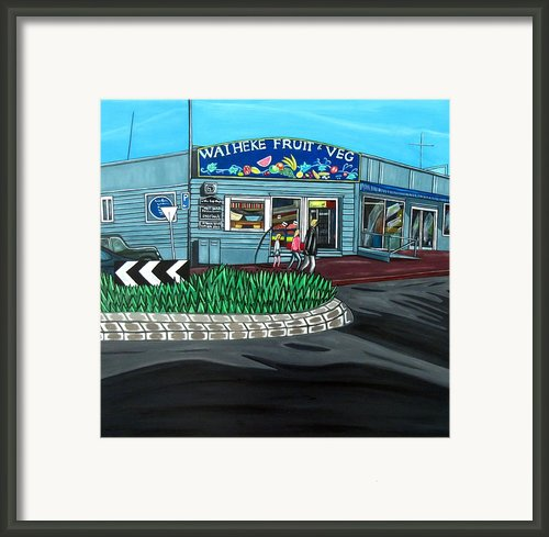 Waiheke Fruit And Veg Framed Print By Sandra Marie Adams