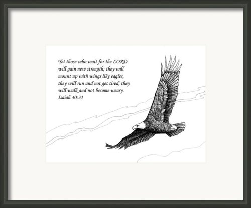 Wait For The Lord Framed Print By Janet King