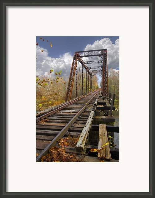 Waiting For The Train Framed Print By Debra And Dave Vanderlaan
