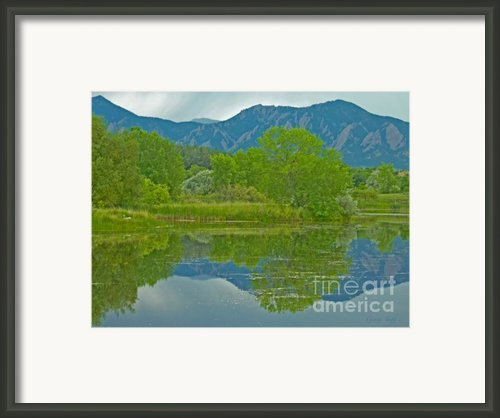 Walden Pond Spring Reflections Framed Print By George Tuffy