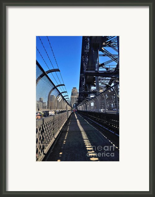 Walk Across Sydney Harbour Bridge Framed Print By Kaye Menner