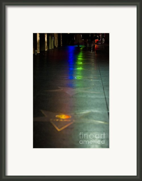 Walk Of Fame Framed Print By Micah May