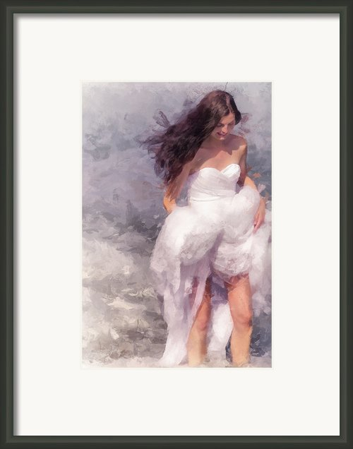 Walk Off The Earth Framed Print By Jenny Rainbow