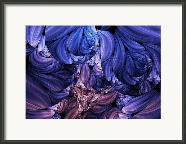 Walk Through The Petals Abstract Framed Print By Zeana Romanovna