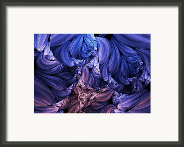 Walk Through The Petals Abstract Framed Print By Zeana Romanovna