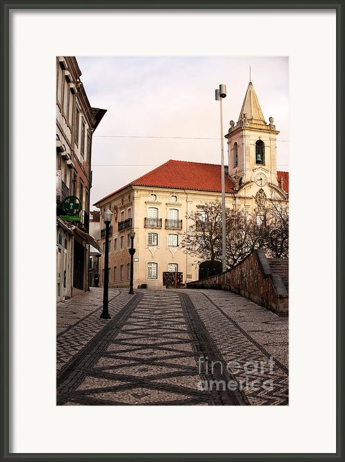 Walk To The Church Framed Print By John Rizzuto