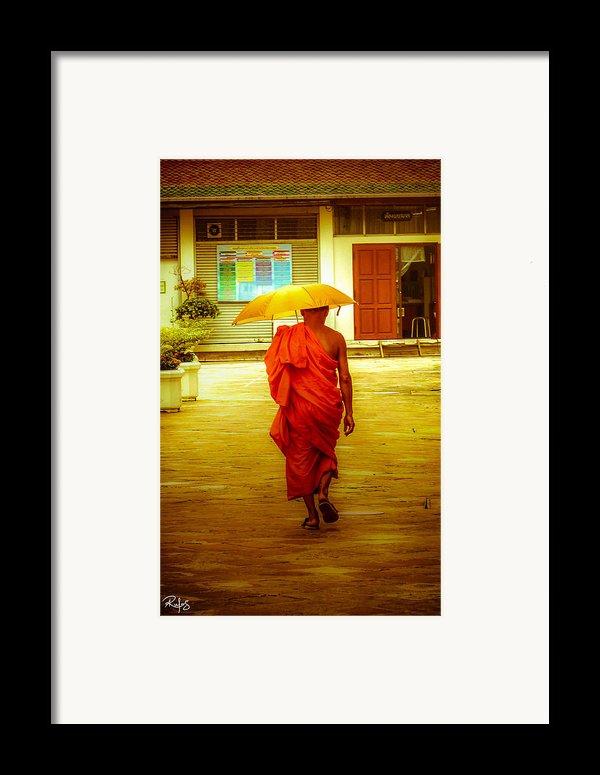 Walking In The Sun Framed Print By Allan Rufus