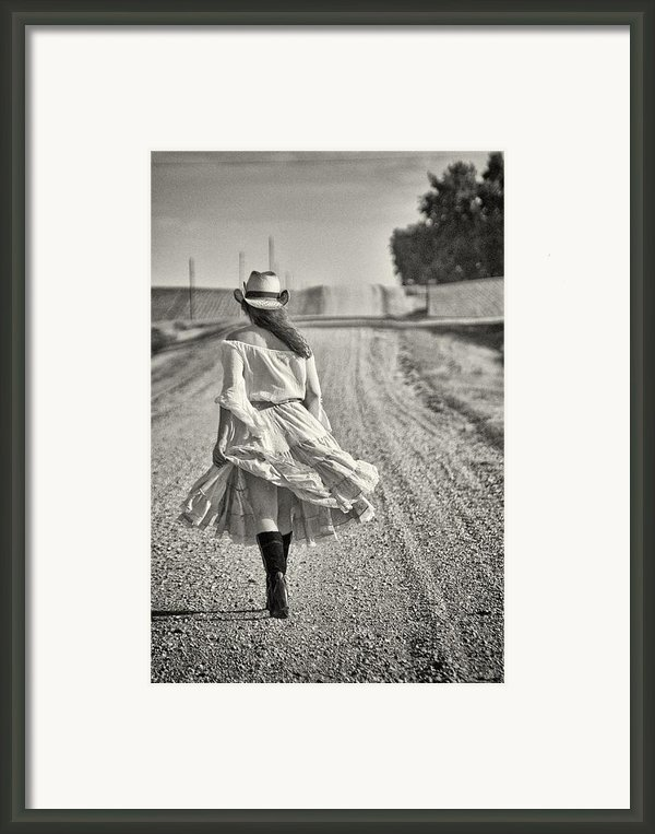 Walking The Road Less Traveled Framed Print By Todd And Candice Dailey
