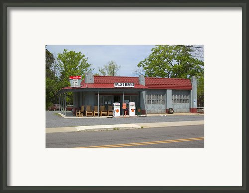 Wallys Service Station Mayberry Framed Print By Bob Pardue