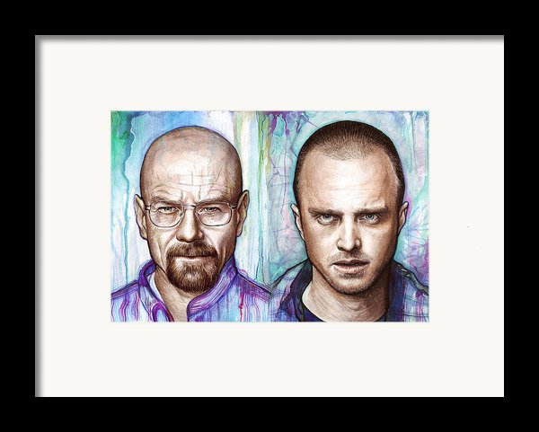 Walter And Jesse - Breaking Bad Framed Print By Olga Shvartsur
