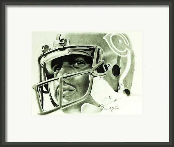 Walter Payton Framed Print By Don Medina