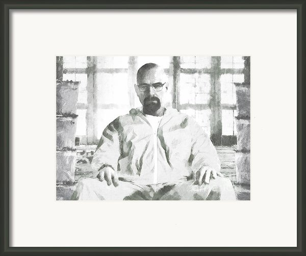 Walter White Breaking Bad Drawing Framed Print By Pixel Chimp