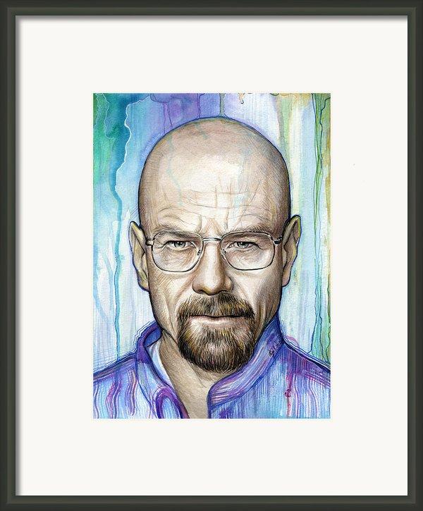 Walter White - Breaking Bad Framed Print By Olga Shvartsur
