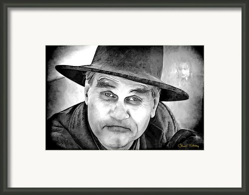 Wanna Be Friends? Bw Framed Print By Chuck Staley