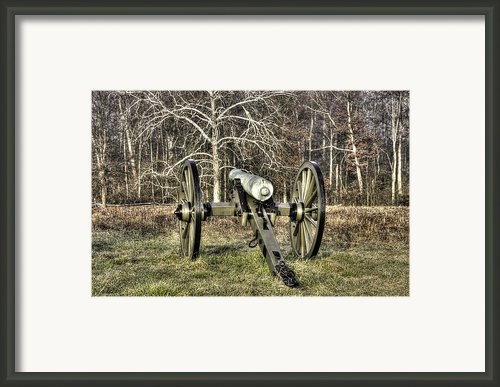 War Thunder - 1st New York Light Artillery-a2 Battery D The Wheatfield Late Winter Gettysburg Framed Print By Michael Mazaika