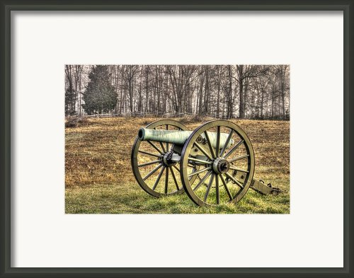 War Thunder - 1st New York Light Artillery-b1 Battery D The Wheatfield Late Winter Gettysburg Framed Print By Michael Mazaika