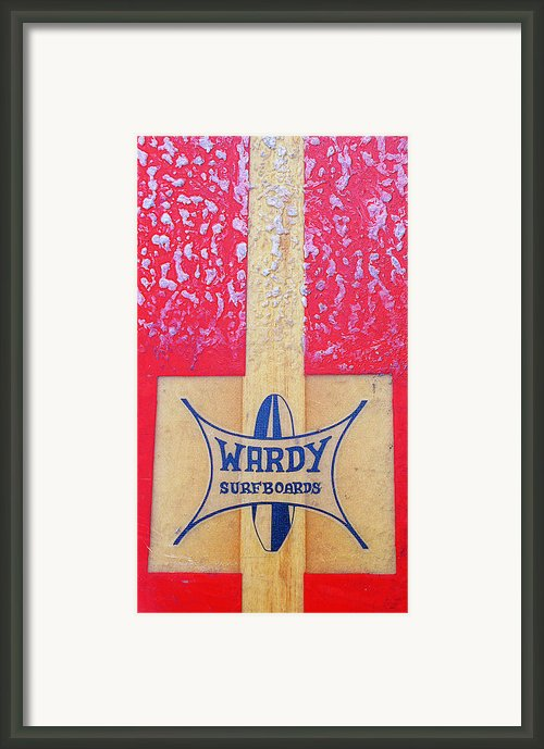Wardy Surfboards Framed Print By Ron Regalado