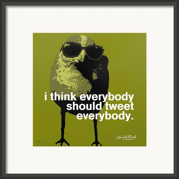 Warhol Tweeting Bird Framed Print By Anthony Ross