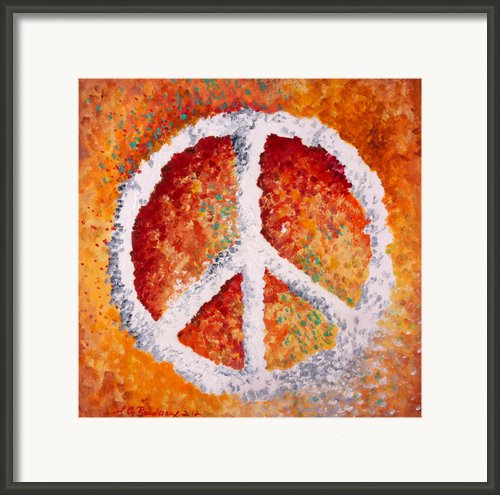 Warm Peace Framed Print By Michelle Boudreaux