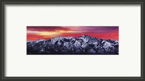 Wasatch Sunrise 3x1 Framed Print By Chad Dutson