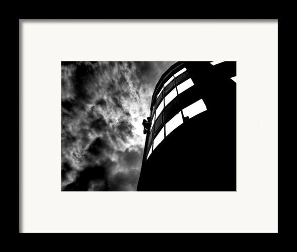 Washing Windows In The City Framed Print By Bob Orsillo