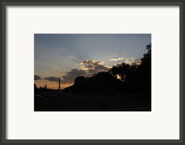 Washington Dc - Washington Monument - 01134 Framed Print By Dc Photographer