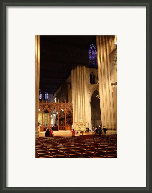 Washington National Cathedral - Washington Dc - 011312 Framed Print By Dc Photographer