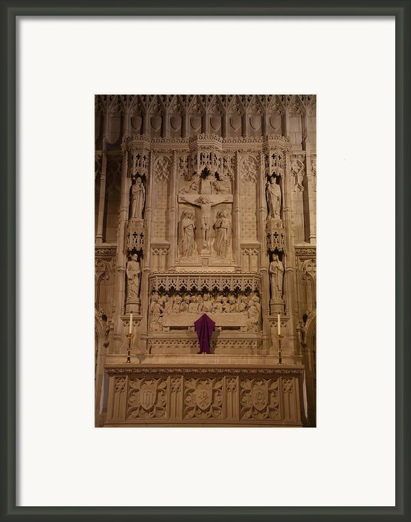 Washington National Cathedral - Washington Dc - 011324 Framed Print By Dc Photographer