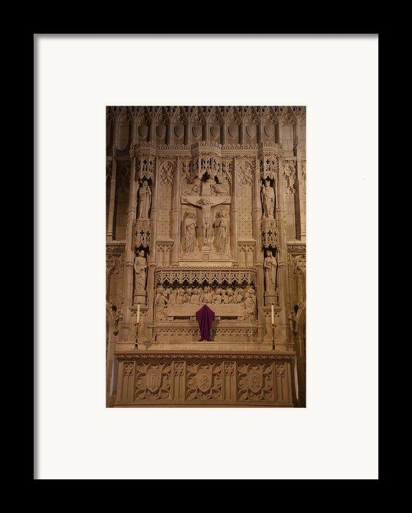 Washington National Cathedral - Washington Dc - 011324 Framed Print By Dc Photographer