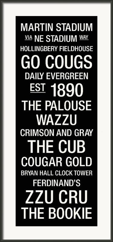 Washington State College Town Wall Art Framed Print By Replay Photos