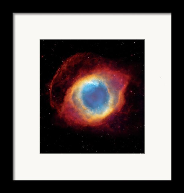 Watching - Helix Nebula Framed Print By The  Vault - Jennifer Rondinelli Reilly