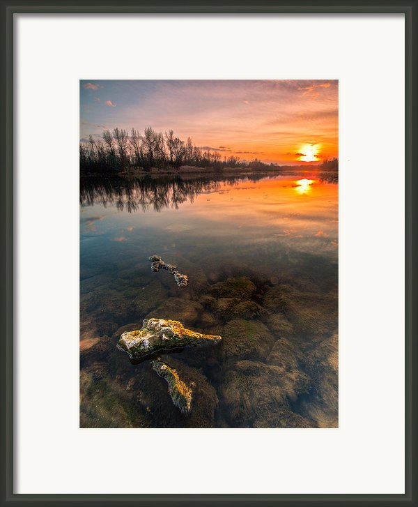 Watching Sunset Framed Print By Davorin Mance