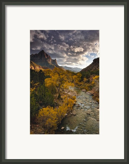Watchman Sunset Framed Print By Joseph Rossbach
