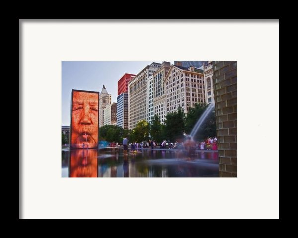 Water Fun In Chicago 1 Framed Print By Sven Brogren