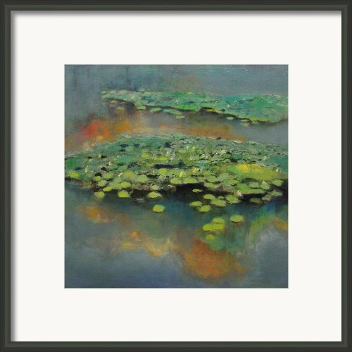 Water Lilies 2 Framed Print By Cap Pannell