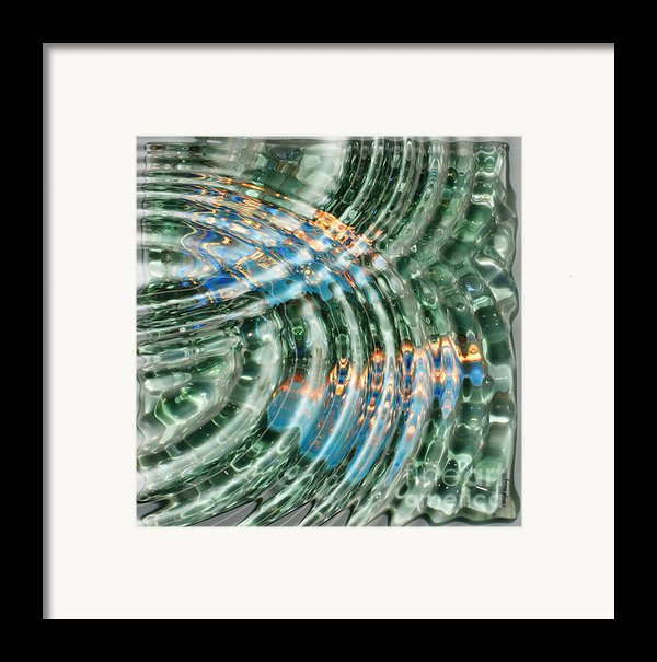 Water Ripples Framed Print By Cheryl Young