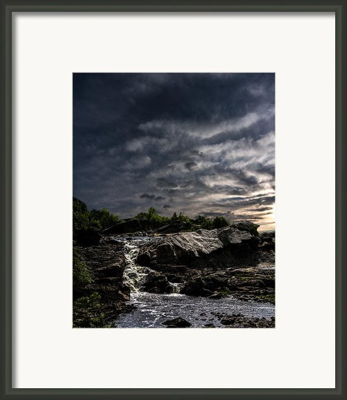 Waterfall At Sunrise Framed Print By Bob Orsillo