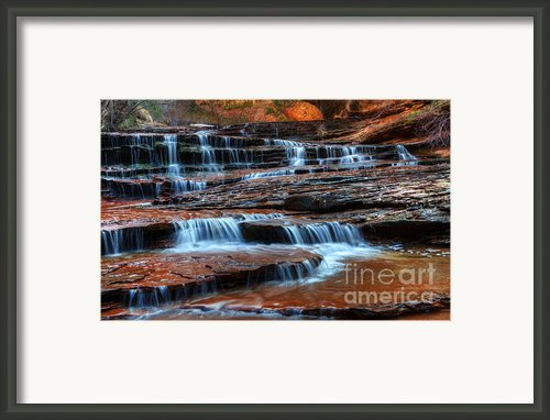 Waterfall Cascade North Creek Framed Print By Bob Christopher