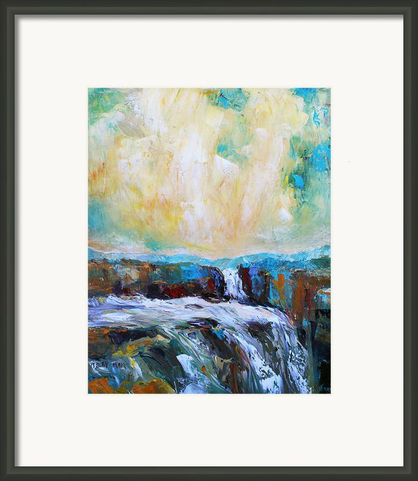 Waterfalls 2 Framed Print By Becky Kim