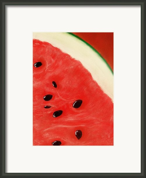 Watermelon Framed Print By Anastasiya Malakhova