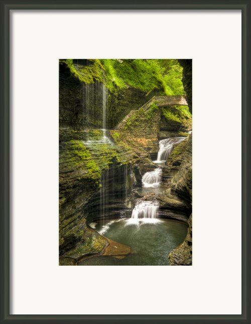 Watkins Glen Falls Framed Print By Anthony Sacco