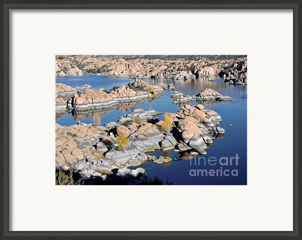 Watson Lake And The Granite Dells Framed Print By Jim Chamberlain
