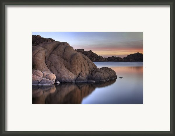 Watson Lake Arizona Colors Framed Print By Dave Dilli