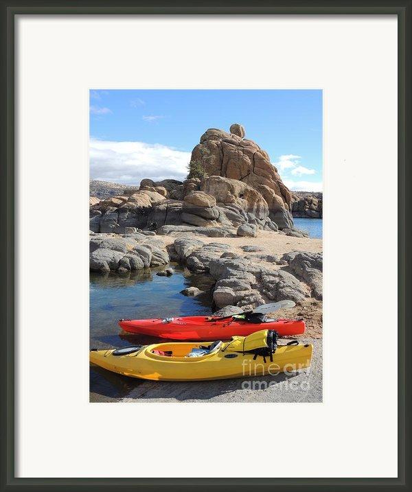 Watson Lake Framed Print By Diane  Greco-lesser