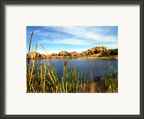 Watson Lake Framed Print By Kurt Van Wagner