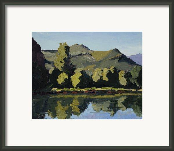 Watson Lake Framed Print By Mary Giacomini