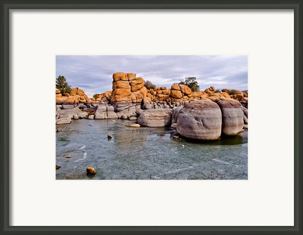 Watson Lake Rocks Framed Print By Jag Fergus