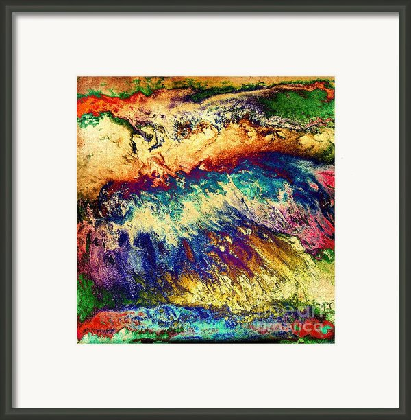 Wave Of Color Framed Print By Patty Vicknair