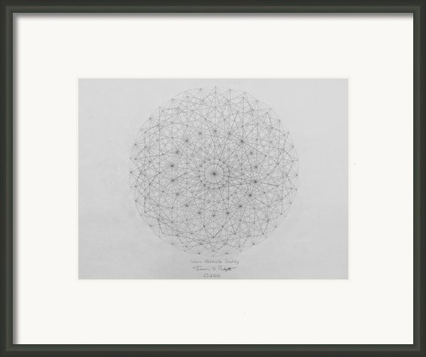 Wave Particle Duality Original Framed Print By Jason Padgett